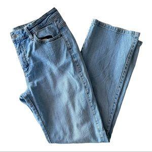 Wrangler Aura Straight Leg Light Wash Jeans 8